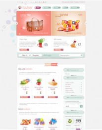 Template Joomla para E-commerce e Virtue Mart Bazaar 3.2.1