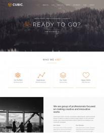 Template Joomla Empresas e Negócios Cubic One Page
