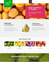 Template Joomla Produtos Naturais Fruit Export 3.2
