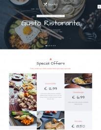 Template Joomla para Restaurantes e Pizzarias Gusto
