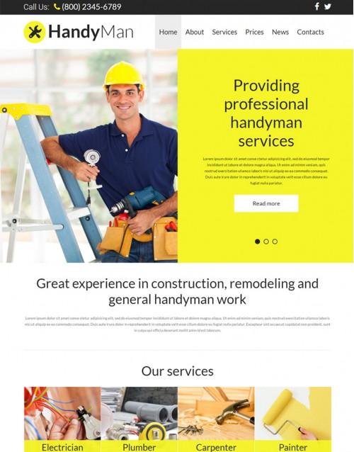 Template Joomla Empresa e Instituição HandyMan 3.x