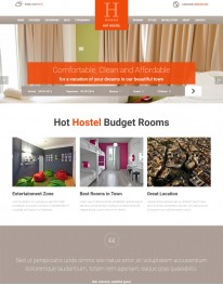 Template Joomla para Agencias de Turismo Hot Hostel