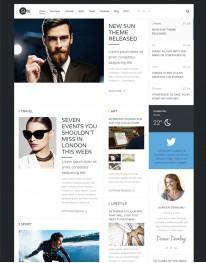 Template Joomla para Blogs Pessoais e Noticias Online Sun