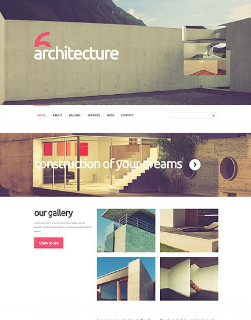 Template Joomla Arquitetura e decoração 6 Architecture 3.3