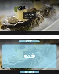 Template Joomla Gastronômico e Culinário Caviar 2.5.17