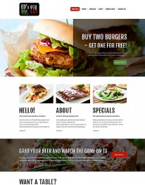 Template Joomla Gastronomia e Culinária ED'S BAR 3.3.3