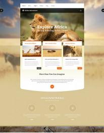 Template Joomla Agências de Turismo Safari Adventure 3.4