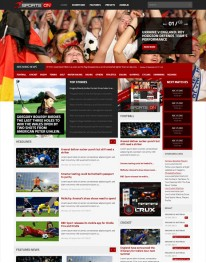 Template Joomla Noticias Sports ON 3.1 para sites notícias