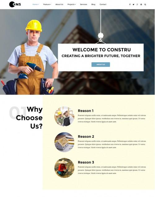 Template Joomla Construção Civil Constru 3.x