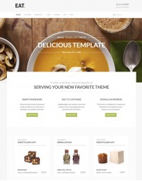 Template Joomla Restaurantes Eat 3.x