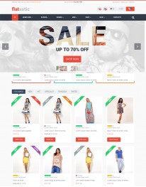 Template Joomla Virtue Mart Flatstic 3.x