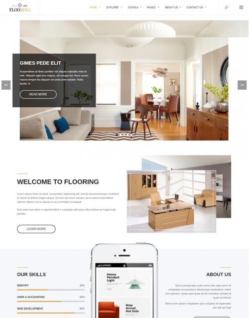 Template Joomla Decoração Design Flooring 3.x