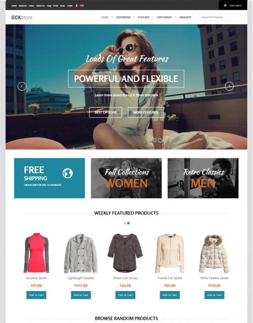 Template Joomla eCommerce GCK Store 3.x