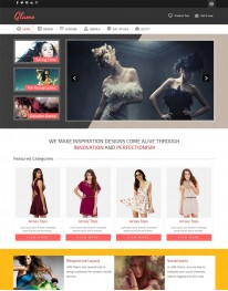 Template Joomla Moda Fashion Glamo 3.x