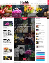 Template Joomla Revista, Jornal, Blog HealthMagazine 3.x