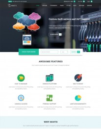 Template Joomla Hospedagem Cloud Server Hostx 3.x