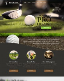 Template Joomla Esportes, Clubes Hot Golf 3.x