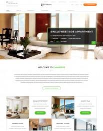 Template HTML5 Site Para Moveis  e Decoração Chambers