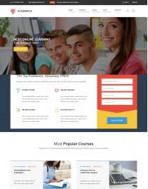 Template HTML5 Cursos Faculdade Multiplas Paginas Academica