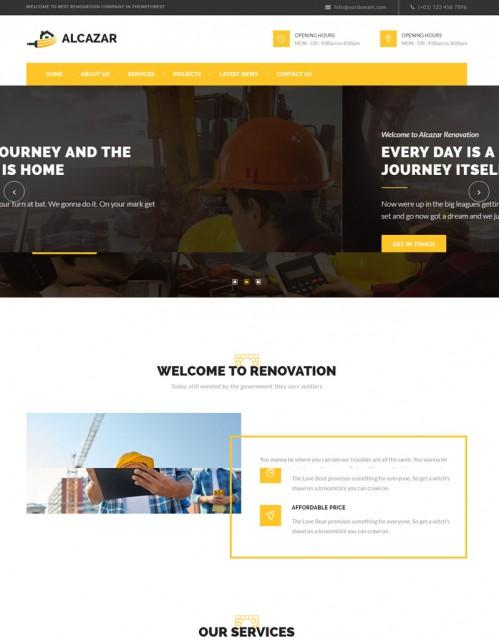 Template HTML5 Construtoras e Construção civil Alcazar