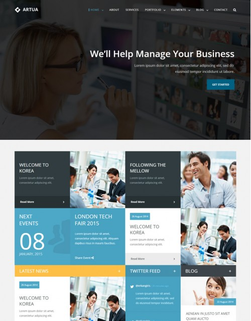 Template HTML5 Agencia de Publicidade e Marketing Artua