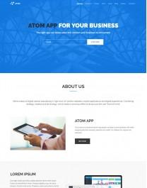 Template HTML5 Negócios e Corporativos One Page Atom