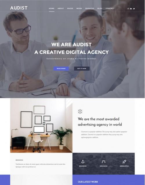 Template HTML5 Acessórias em Negócios,Aperfeiçoamento Audist