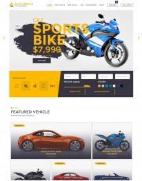 Template HTML5 Concessionarias de Carros e Motos Auto Search