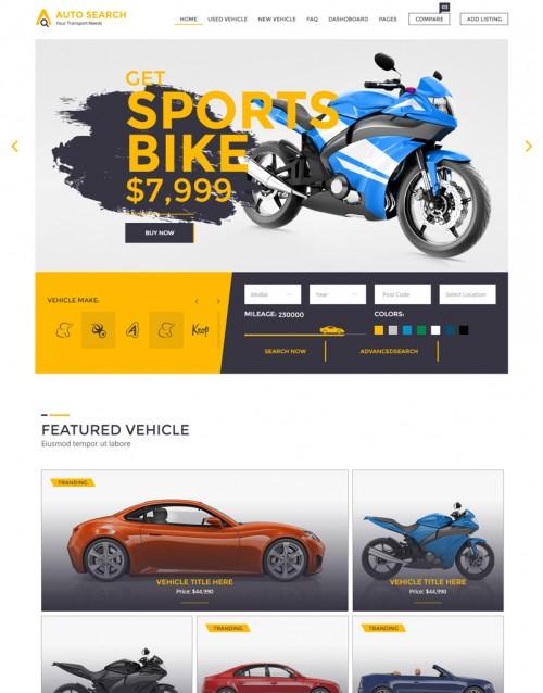 Template HTML5 Concessionarias de Carros e Motos Auto Search