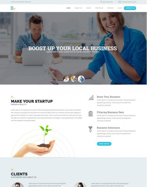 Template HTML5 Agencia de Publicidade. e Marketing Bplus