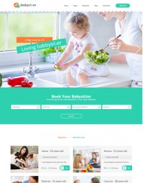 Template HTML5 Baba de Crianças, Multi Page Babysitters