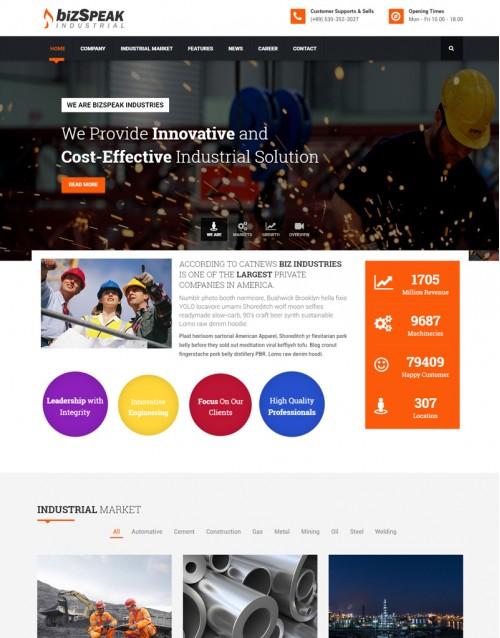 Template HTML5 Construtoras e Construção Civil BizSpeak