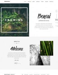 Template HTML5 floricultura,decorações Naturais Bonsai