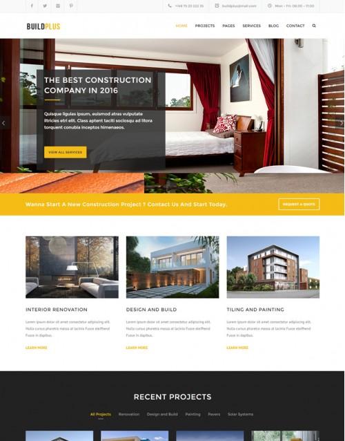 Template HTML5 Engenharia e Construção Civil Buildplus