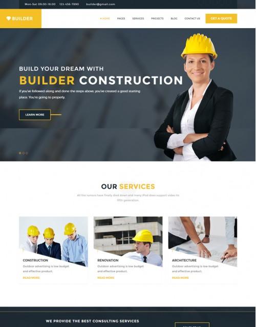 Template HTML5 Construtoras e construção Civil Builder