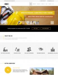 Template HTML5 Engenharia e Construção Civil Built