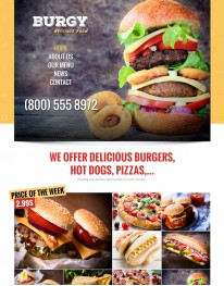 Template HTML5 Lanchonetes, Hamburguerias e Pizzarias Burgy