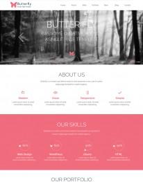 Template HTML5 Agencia de Modelos, Moda, One Page Butter fly