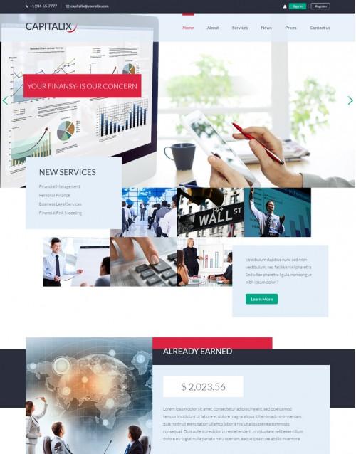Template HTML5 Assessorias em Negócios Capitalix