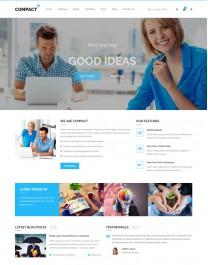 Template HTML5 Site Para Financeiras e Economia Compact