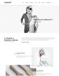 Template HTML5 Site Para Moda, Roupas, Fotos Concept