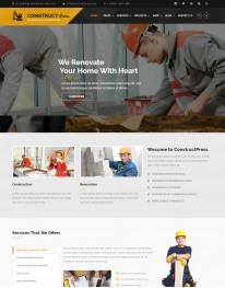 Template HTML5 Construtoras e Construção Construct Press