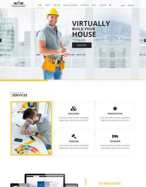 Template HTML5 Site Para Engenheiros Constructioner