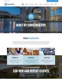 Template HTML5 Construtoras e Construção Civil Constructive