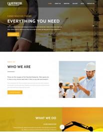 Template HTML5 Construtoras e Construção Civil Constructor