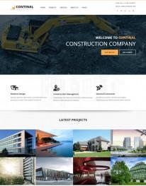 Template HTML5 Construtoras e Construção Civil Continal