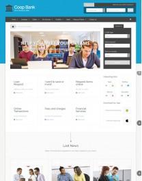 Template HTML5 Cursos, Faculdades e Treinamento CoopBank