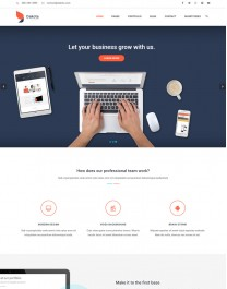 Template HTML5 Web Design Para Desenvolvedores Web Dakota