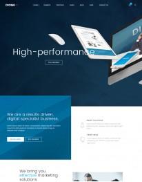 Template HTML5 Web Design Para Desenvolvedores Web Dione