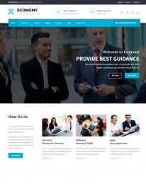 Template HTML5 Site Para Financeiras e Economia Economy